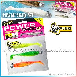 Power Shad Set 10cm Fluo