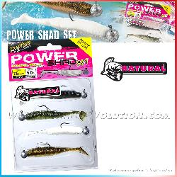 Power Shad Set 7,5cm Natural