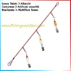 Lenza X calamari 3 Attacchi