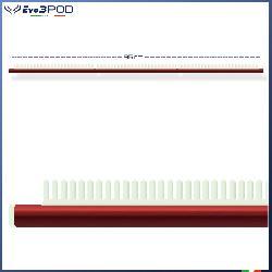 Barra Stendi Travi Alluminio Anodizzato Rosso 95 CM