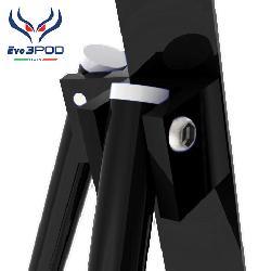 Tripode Doppia Canna Elite 150 cm Nero
