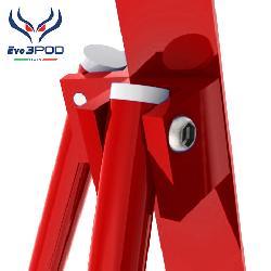 Tripode Doppia Canna Elite 200 cm Rosso