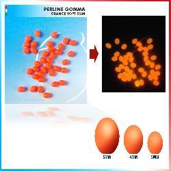 Perline Soft Ovali Orange Fosfo 50 pz.