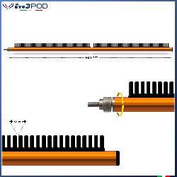 Evo3pod Braccetto stendi travi laterale arancione 60 cm