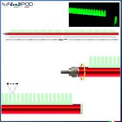 Evo3pod Braccetto stendi travi laterale a pettine rosso 60 cm