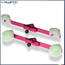 Evo3pod Coppia staffe per doppia canna alluminio anodizzato rosa brillante