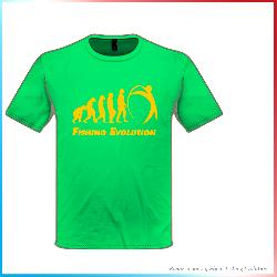 T-Shirt FE Junior Verde Stampa Evoluzione