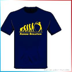 T-Shirt Fishing Evolution Blu Navy Evoluzione