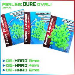 Fishing evolution Perline fluo ovali dure 50 pz ob-hard