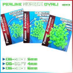 Perline Fluo Ovali Morbide 50 pz. (OB-SOFT)