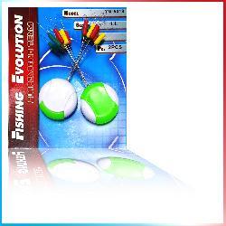 Stopper Cilindrici 18pz - 3 colori (YM-5018)