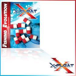 X-Float Mini Pop diam.6 mm10 White/Red