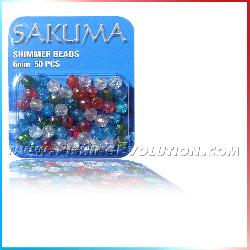 Perline sfaccettate (shimmer beads) 6mm - 50 pz.